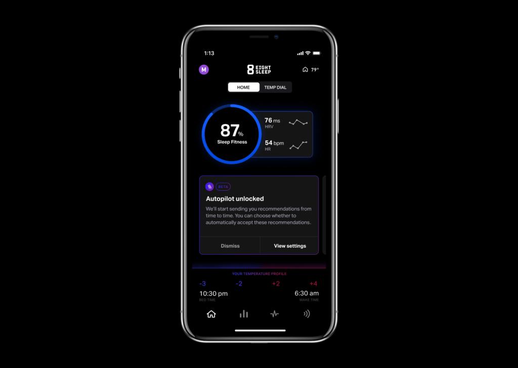 Eight Sleep App Sleep OS Home