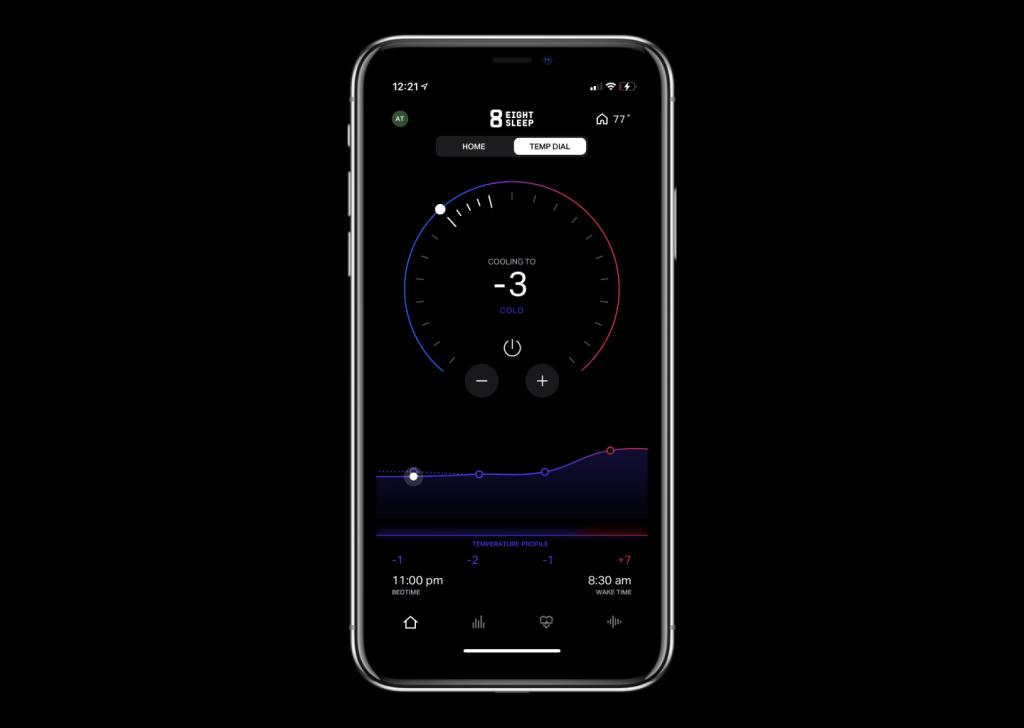 Eight Sleep Pod App - SleepOS Temperature Dial